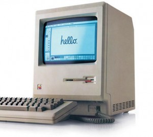 An early Apple Mac computer