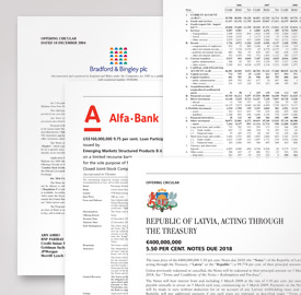 Financial print documents