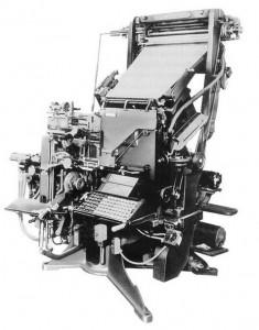 Linotype typesetting machine